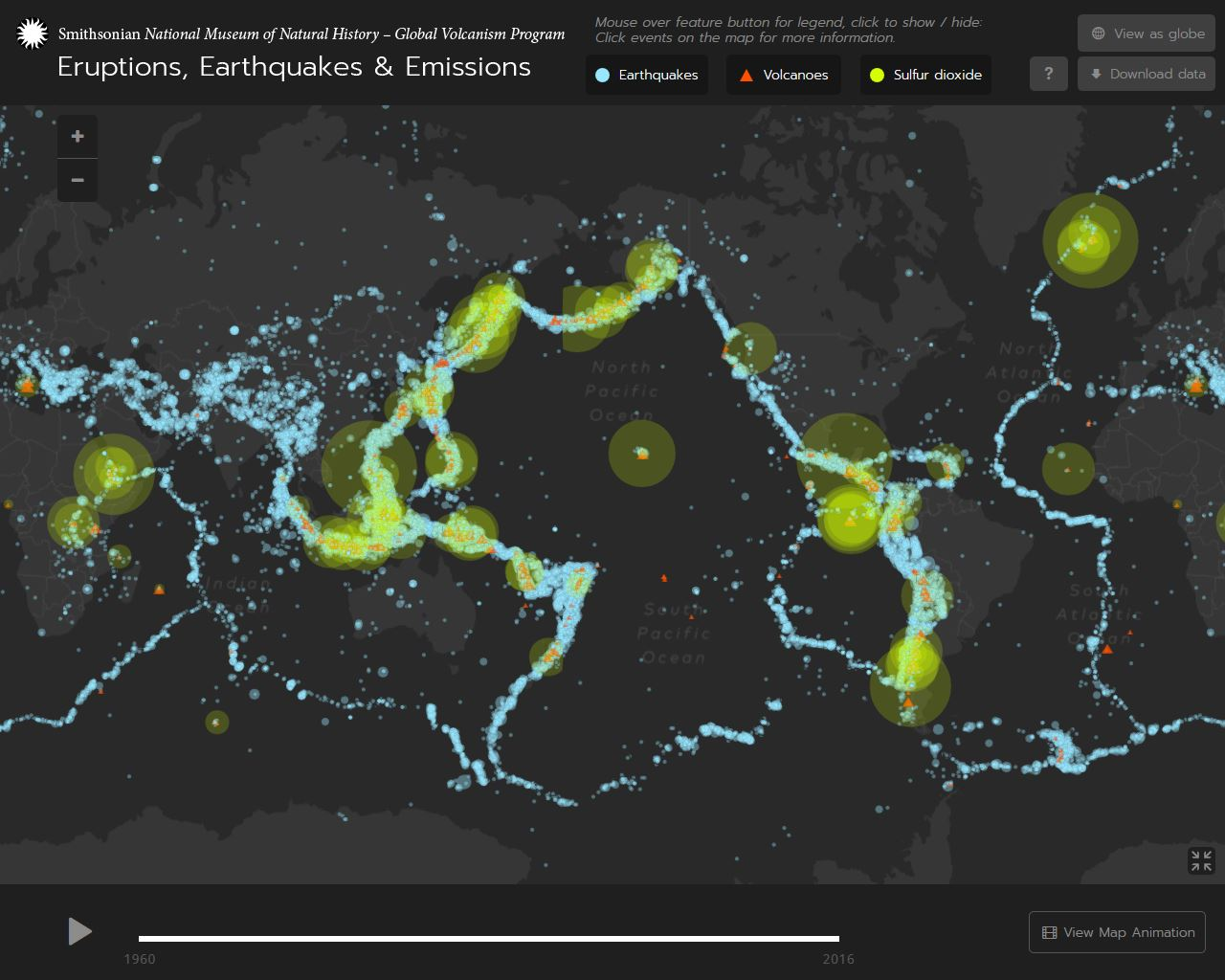Global Volcanism Program Eruptions Earthquakes Emissions