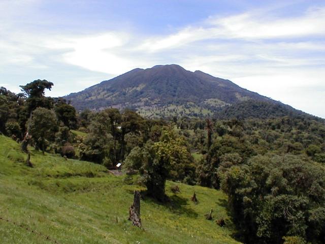 Summit of Turrialba volcano