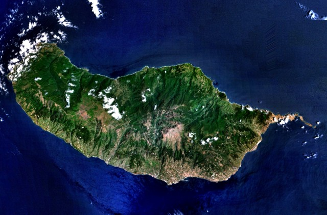 Madeira island from space