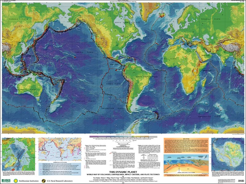 Global Volcanism Program This Dynamic Planet Map