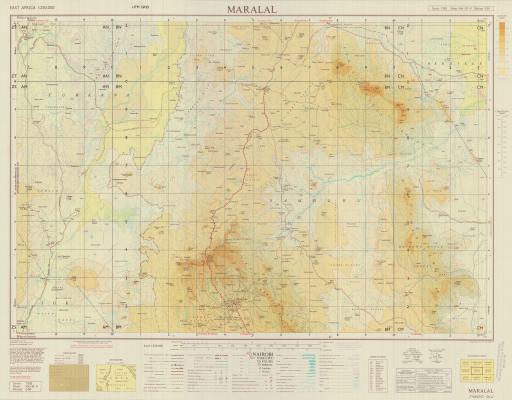 Map of Maralal