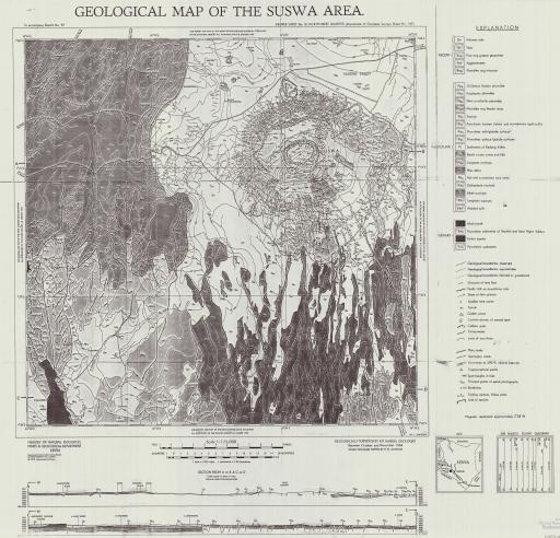 Map of Geological Map of the Suswa Area