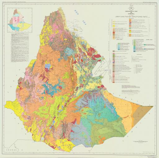 Map of Ethiopia, Geol Map of
