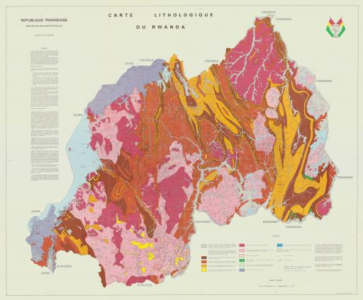 Map of Rwanda, Lithologic map