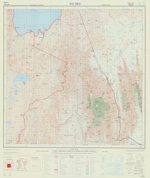 Map of Ng'iro