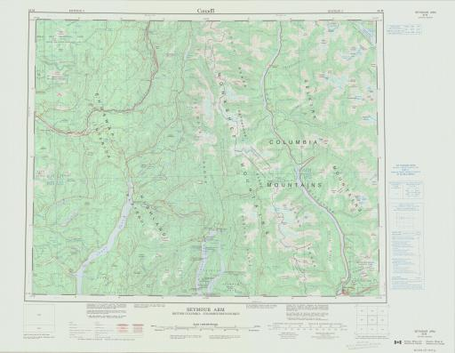 Map of Seymour Arm, British Columbia