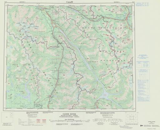 Map of Canoe River, British Columbia