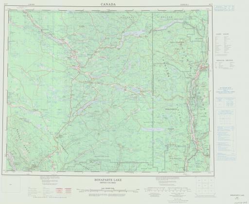 Map of Bonaparte Lake, British Columbia