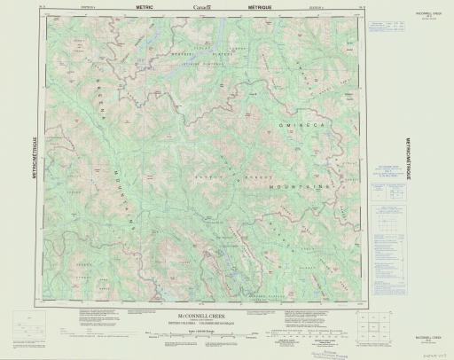 Map of McConnell Creek, British Columbia