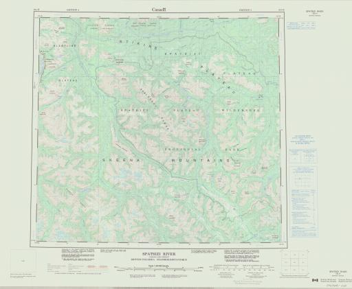 Map of Spatsizi Rive, British Columbia