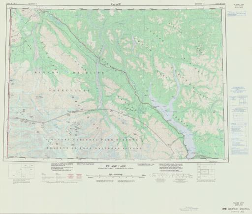 Map of Kluane Lake, Yukon