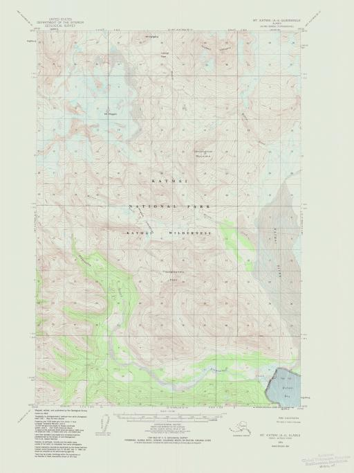 Map of Mt Katmai (A-4)