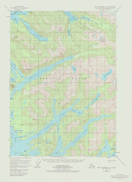 Map of Port Alexander (D-4)