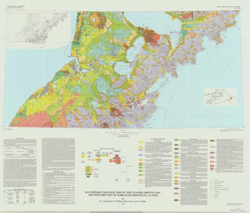 Map of Quat Geol, Ugashik, Bristol Bay, & W Karluk Quads