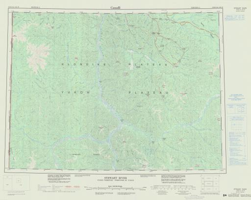 Map of Stewart River, Yukon Territory