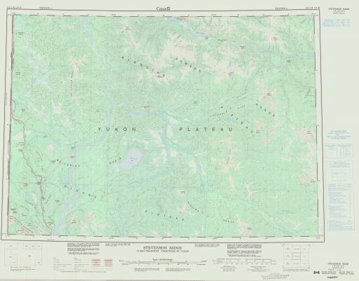 Map of Stevenson Ridge, Yukon Territory