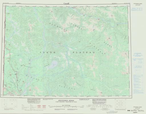Map of Stevenson Ridge, Yukon Territory
