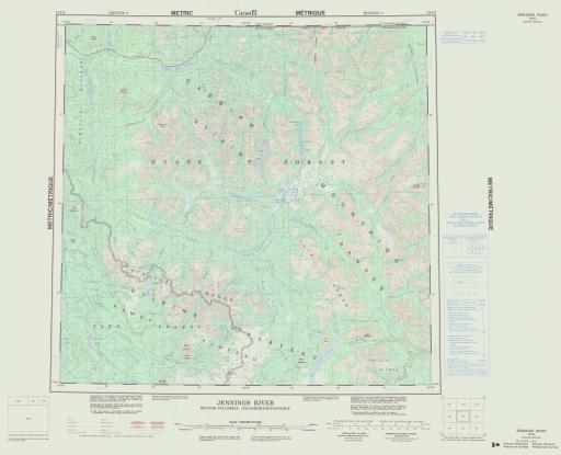 Map of Jennings River, British Columbia