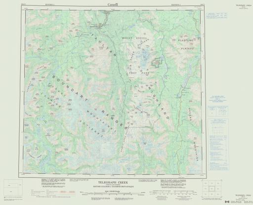 Map of Telegraph Creek, Cassiar Dist., British Columbia