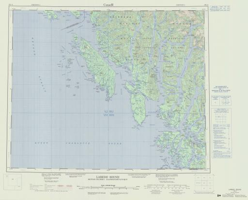 Map of Laredo Sound, British Columbia