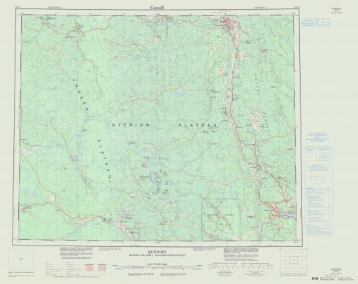 Map of Quesnel, British Columbia
