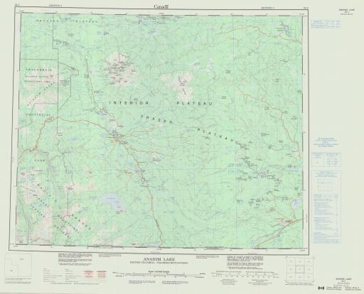 Map of Anahim Lake, British Columbia