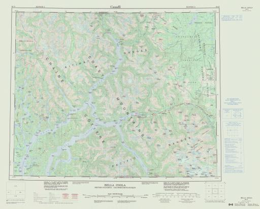 Map of Bella Coola, British Columbia