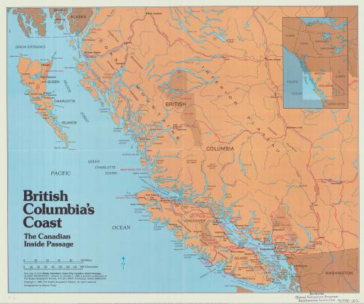 Map of British Columbia's Coast: The Canadian Inside Passage