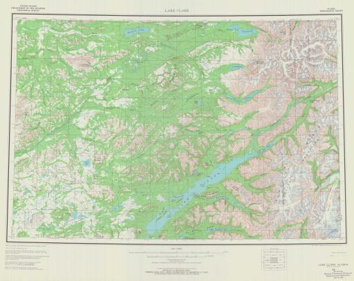 Map of Lake Clark