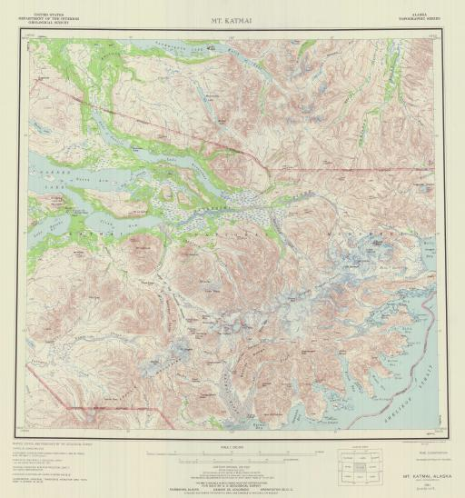 Map of Mt Katmai