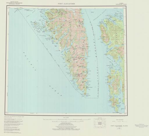 Map of Port Alexander