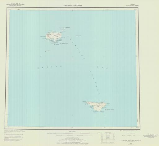 Map of Pribilof Islands