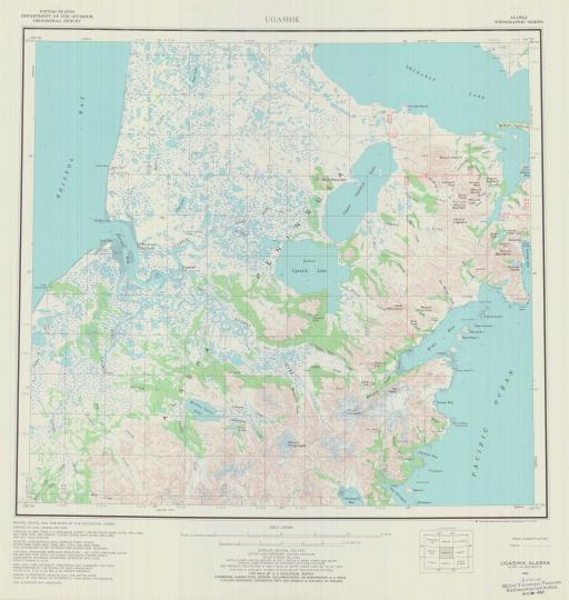 Map of Ugashik
