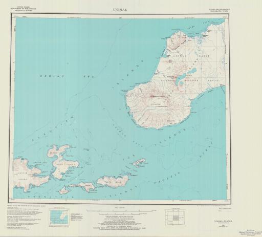 Map of Unimak