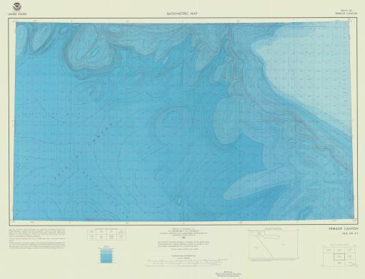 Map of Pribilof Canyon, Bering Sea