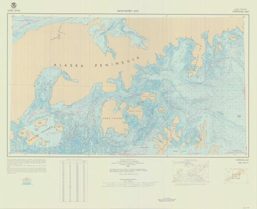 Map of Stepovak Bay, AK Peninsula