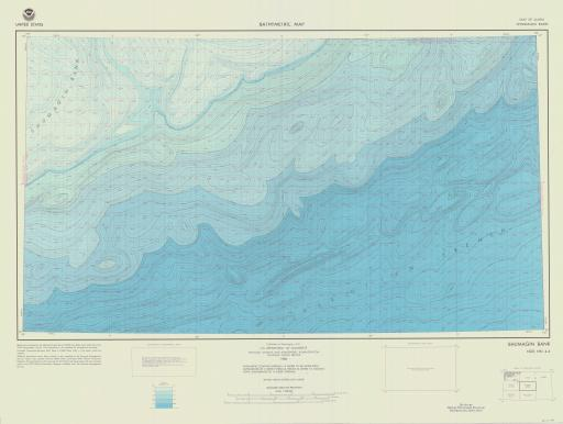 Map of Shumagin Bank, Gulf of AK