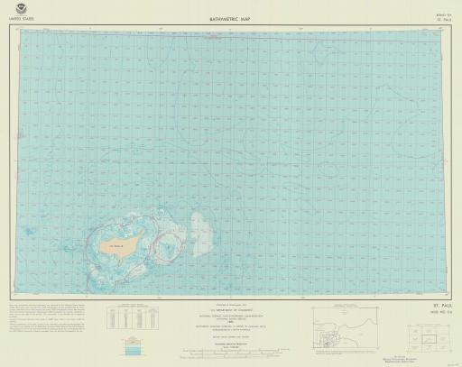 Map of St. Paul, Bering Sea