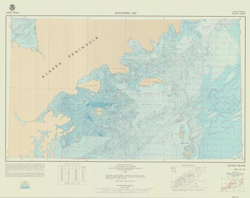 Map of Sutwik Island, AK Peninsula