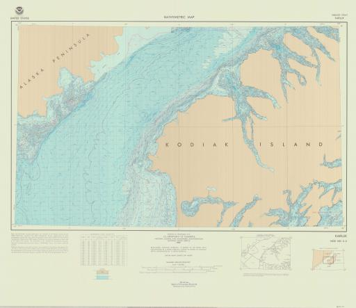 Map of Karluk, Shelikof Strait
