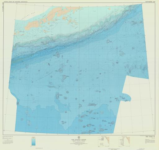 Map of N Pacific Ocean, NOS Seamount Series