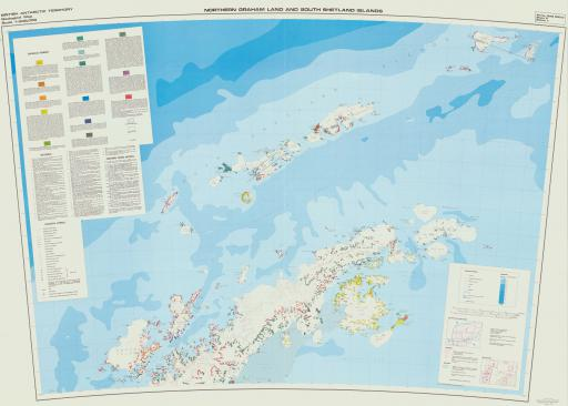 Map of N Graham Land & S Shetland Islands