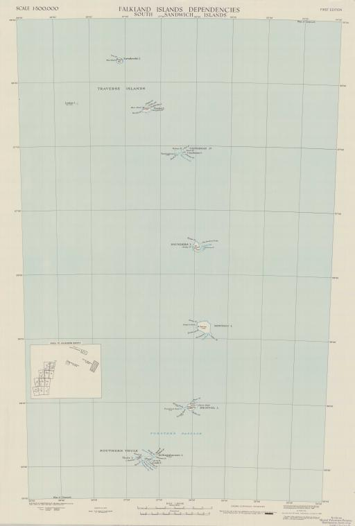 Map of South Sandwich Islands