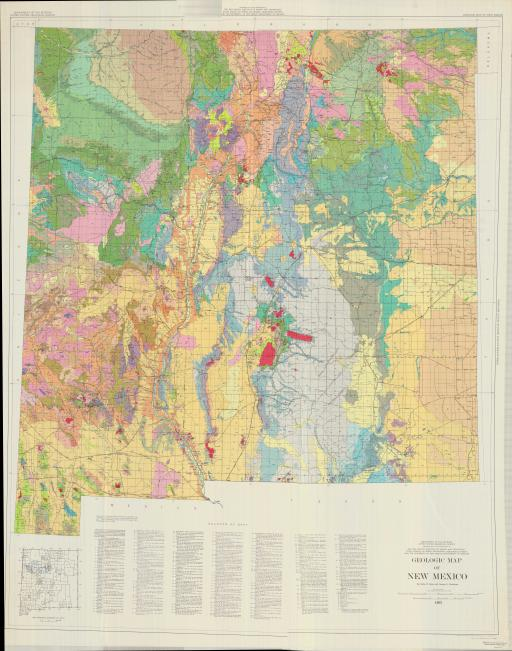 Map of Geol Map of New Mexico