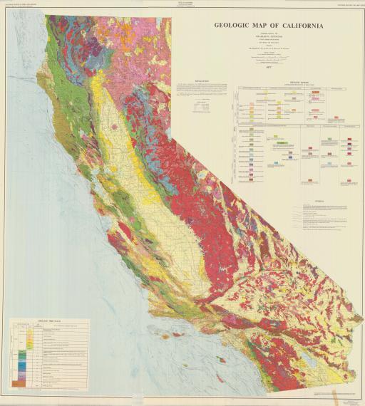 Map of Geologic Map of California