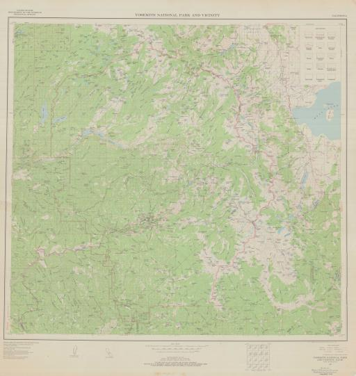 Map of Yosemite National Park and Vicinity