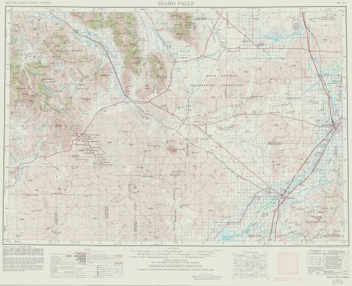 Map of Idaho Falls