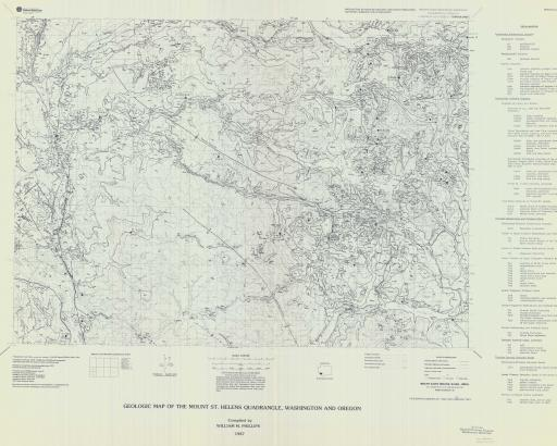 Map of Mt St Helens, Geol Map of