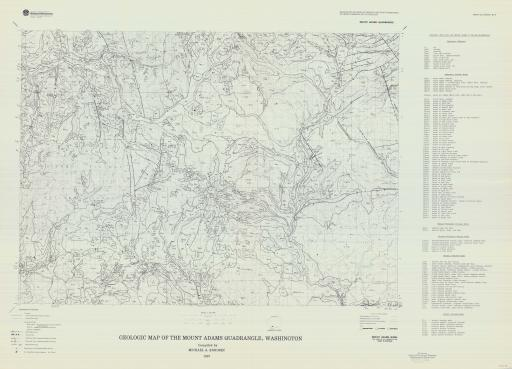 Map of Mt Adams, Geol Map of