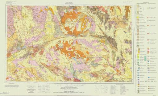 Map of Trona, Geol Map of CA